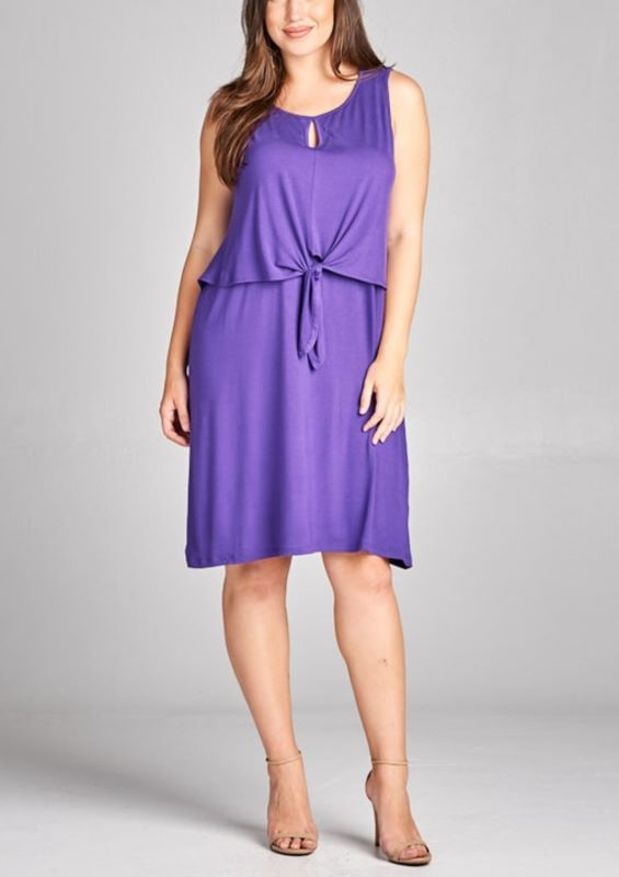 FROM DAY TO NIGHT DRESS IN SOLID PURPLE