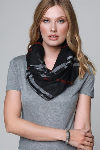 STYLE IT UP WITH THIS GAUZY LIGHTWEIGHT SCARF IN BEIGE MIX