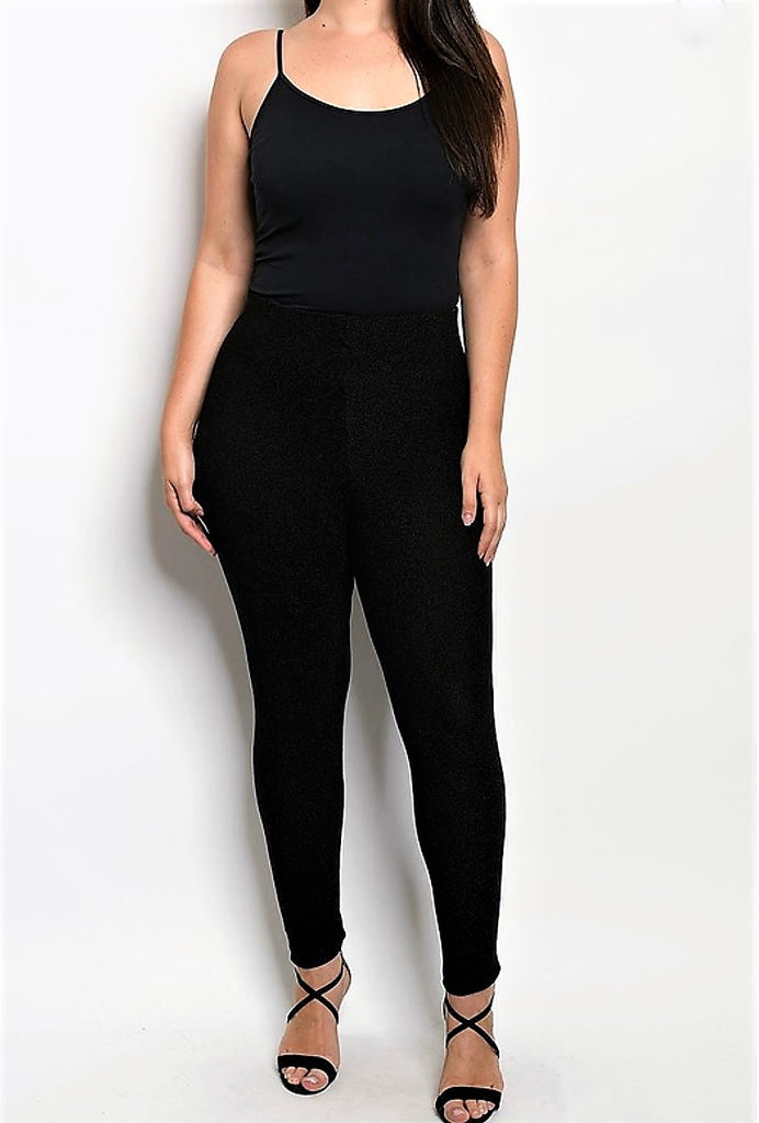 SEAMLESS LEGGINGS IN SOLID BLACK 12-22