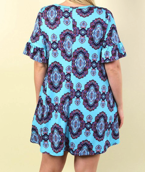 CHANGE YOUR HEART TUNIC IN TEAL [product vendor] - Life is Chic Boutique