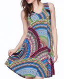 GOING YOUR OWN WAY MULTI-COLOR SLEEVELESS DRESS