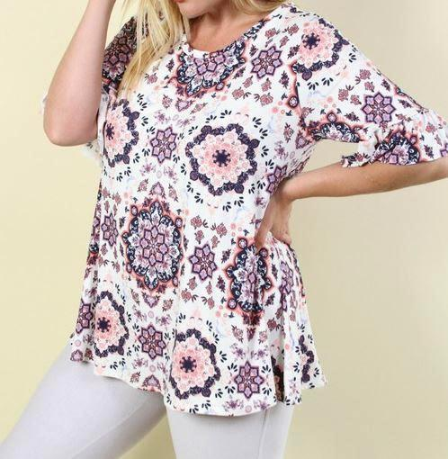 PROMISE TO LOVE YOU TOP IN MULTI-COLOR