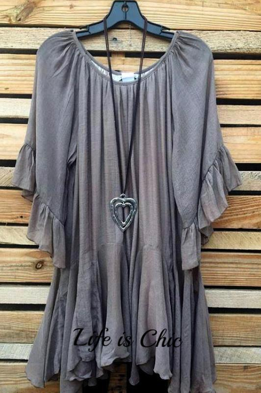 BOHO HIPPIE SWING OVERSIZED TUNIC - MOCHA [product vendor] - Life is Chic Boutique
