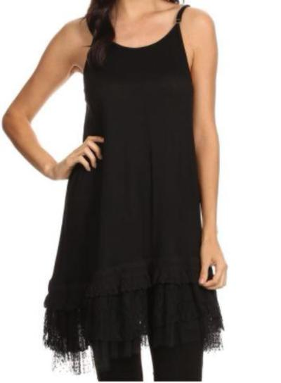 THE PERFECT WISH DRESS SLIP EXTENDER LACE IN BLACK [product vendor] - Life is Chic Boutique