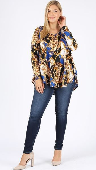ALL THE BEST MEMORIES PRETTY PAISLEY TOP BLOUSE IN MULTI-COLOR 1X 2X 3X 4X 5X------sale