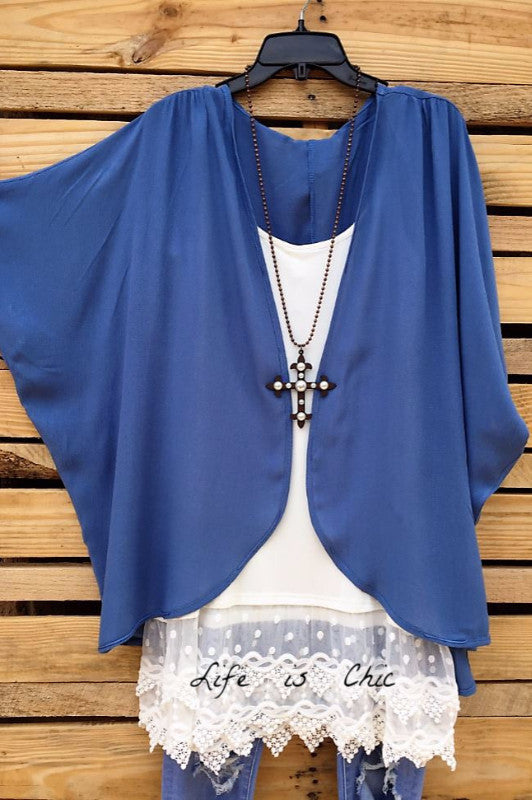 There She Goes Kimono, Blue [product vendor] - Life is Chic Boutique