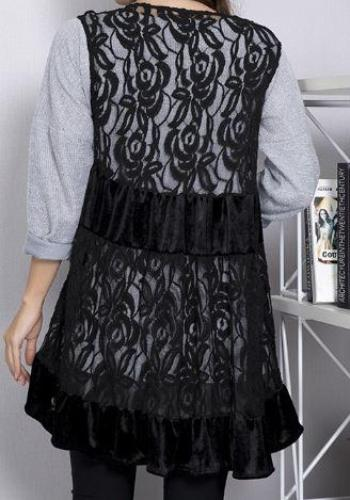 A PERFECT WISH RUFFLE LACE SLEEVELESS VEST IN BLACK [product vendor] - Life is Chic Boutique