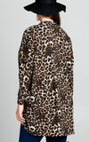 LIFE IS A JOURNEY LEOPARD PRINT SOFT COMFY CARDIGAN IN BROWN