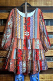 A FAIRYTALE DREAM BABYDOLL TUNIC IN MULTI-COLOR