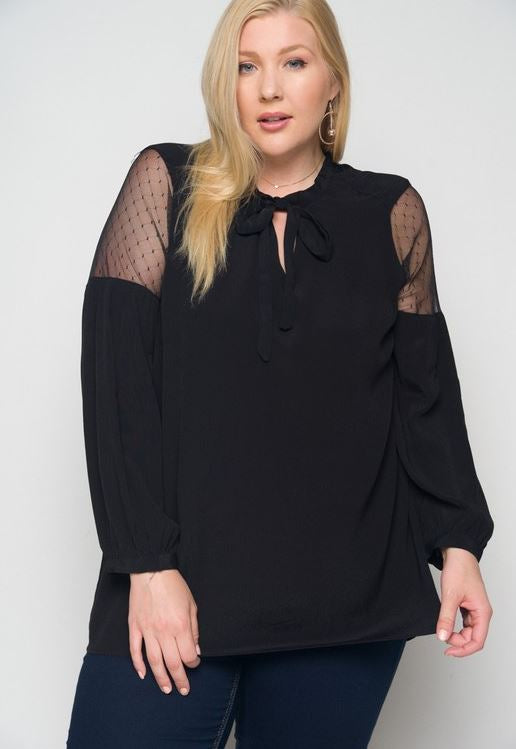 THAT SPECIAL NIGHT TOP IN BLACK