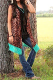 PRETTY LEOPARD PRINT LACE VEST [product vendor] - Life is Chic Boutique