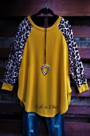EVERYDAY IN THE WINTER SO SOFT SWEATER TOP IN MUSTARD [product vendor] - Life is Chic Boutique