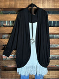 THE EVERYDAY CASUAL CARDIGAN BLACK