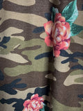 A Peaceful Mind Camo & Roses Print Dress in Multi-Color 3X 4X 5X