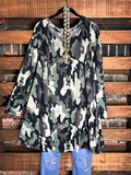 GOT THIS FEELING CAMOUFLAGE DRESS MULTI