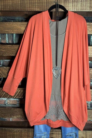 Secret Obsession Colorblock Cardigan in Charcoal