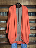 THE EVERYDAY CASUAL CARDIGAN IN CORAL