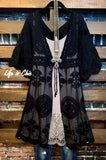 LOVE IS IN THE AIR LACE DUSTER CARDIGAN IN BLACK
