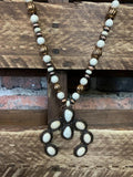 LUCK MOON SET NECKLACE IN IVORY TURQUOISE