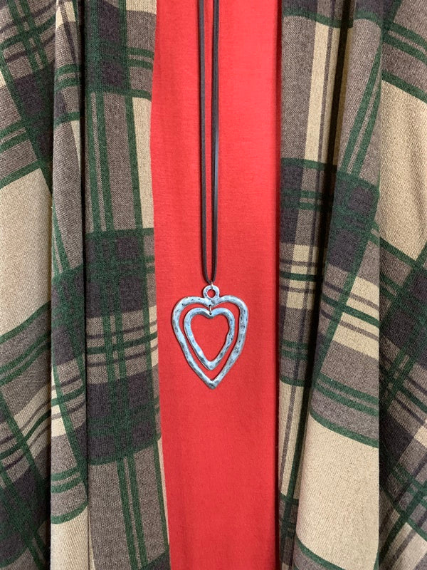 I'M SO IN LOVE PLAID VEST IN TAUPE & OLIVE-------------sale