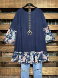 Definition Of Love Top in Navy Blue----------sale