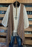 ENCHANTED WITH YOUR LOVE PRETTY TUNIC BLOUSE IN TAUPE