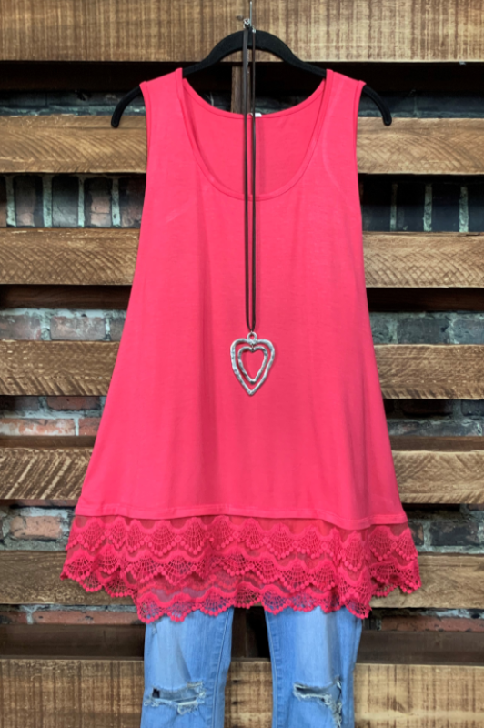 SWEETER THAN HONEY LACE SLIP DRESS EXTENDER TOP RASPBERRY CANDY