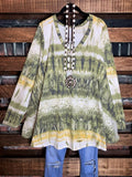 NO WORRIES SOFT HACCI TIE DYE TUNIC IN MULTI-COLOR