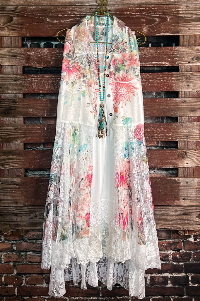 Best of My Love Floral Boho Vest Multi-Color