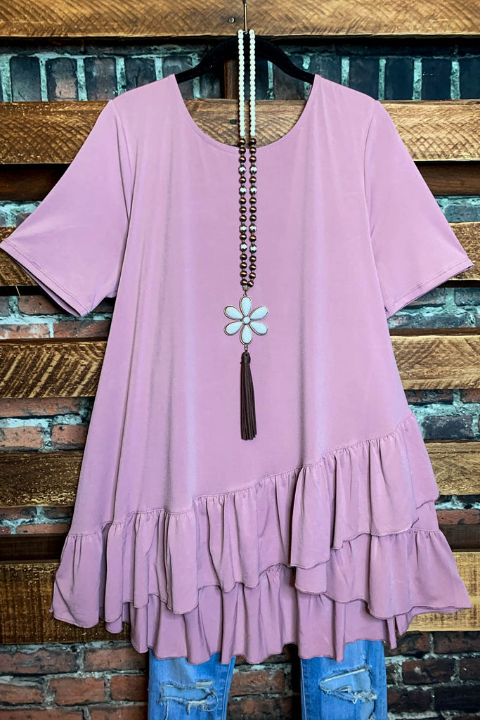 Graceful Pretty Rose Pink Top