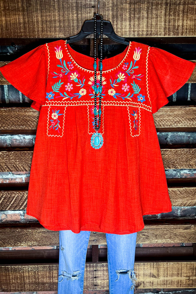 Promise In My Heart Embroidered Tunic in Black
