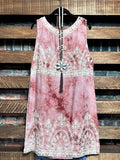 EMBROIDERED HIPPIE CHIC TIE DYE DRESS IN BURNT RUST Size 6-12---------------SALE