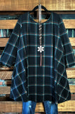 ALWAYS BE ADORABLE PLAID SWEATER TUNIC IN BLACK 3X 4X 5X