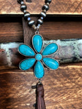 JUST THAT BEAUTIFUL TASSEL FLOWER TURQUOISE