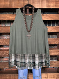 MAKE IT GRACEFUL JERSEY TOP IN OLIVE