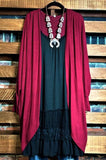 That Cozy Feeling Hacci Soft Oversized Cardigan in Burgundy