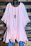 FREE SOUL SWING OVERSIZED DRESS IN LIGHT PINK