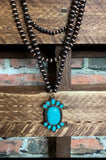 SET NECKLACE IN COPPER AND TURQUOISE