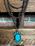 TOUCHED BY LOVE SET NECKLACE IN COPPER & TURQUOISE