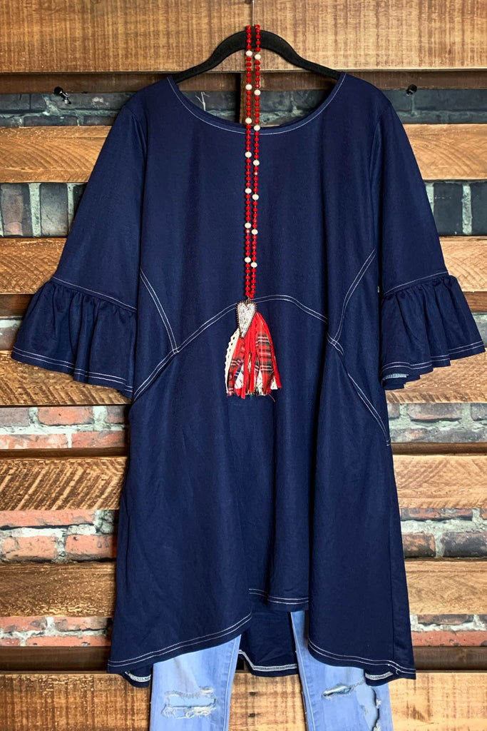 GENUINE SOUL OVERSIZED DRESS POCKET IN NAVY BLUE