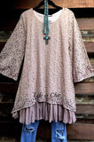 A PIECE OF MY HEART DRESS LACE IN MAUVE [product vendor] - Life is Chic Boutique