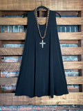 WHEREVER YOU GO DRESS TUNIC IN BLACK