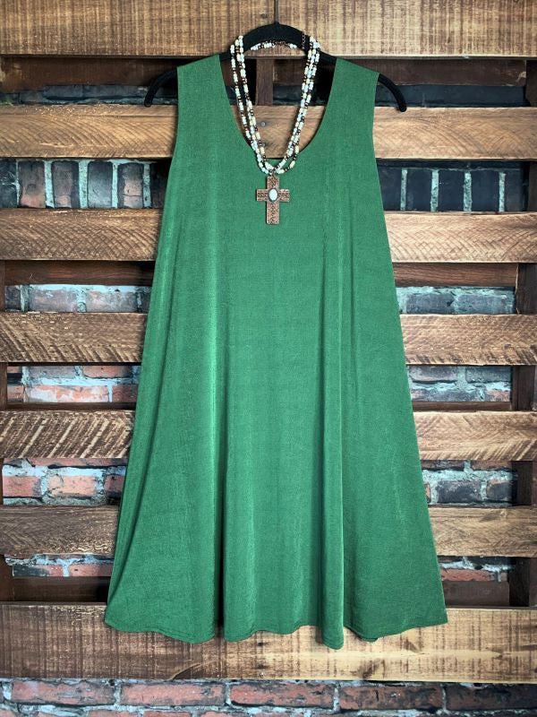 WHEREVER YOU GO DRESS TUNIC IN OLIVE