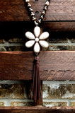 JUST THAT BEAUTIFUL TASSEL FLOWER IN IVORY [product vendor] - Life is Chic Boutique