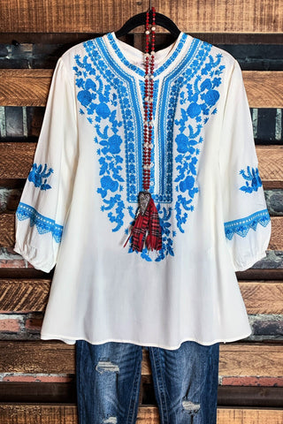 ENCHANTED BEAUTY LACE VINTAGE INSPIRED TUNIC IN IVORY