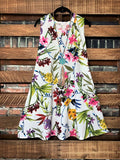 ALL FOR THE BEST FLORAL DRESS IN IVORY MIX