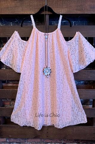 SO THIS IS LOVE LACE SLIP DRESS EXTENDER IN BEIGE