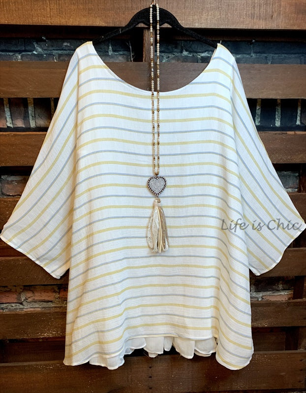 THE PERFECT FAB OVERSIZED BLOUSE TUNIC IN CREAM & MIX  1X-3X--------SALE