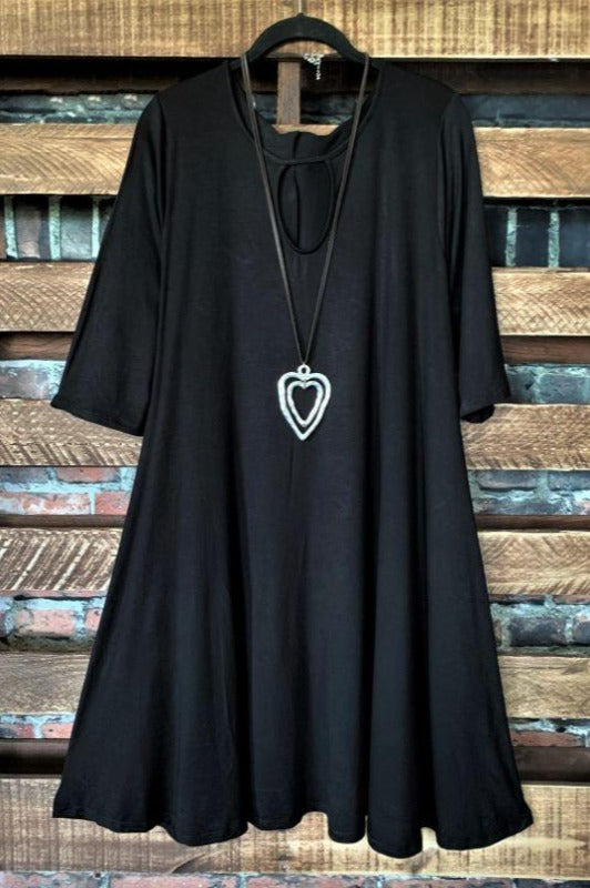 ADORABLY YOURS DRESS IN BLACK