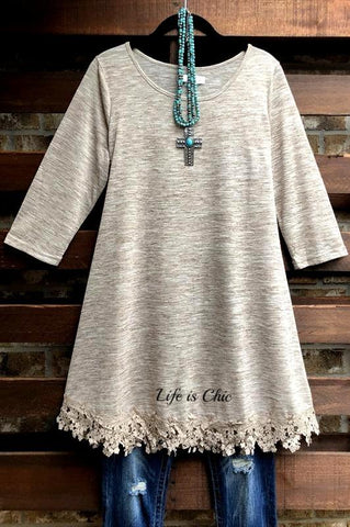 FAB EMBELLISHED DETAIL TUNIC IN PINK